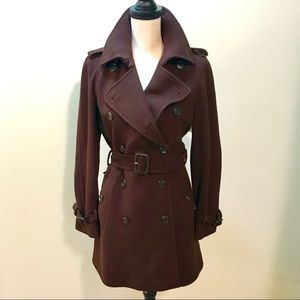 Burberry London cashmere wool trench coat